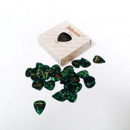 Pack de 144 puas Thin verde nacarado puas de guitarra